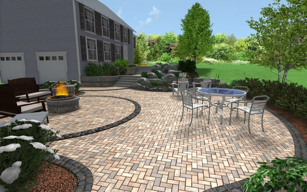 Exceptional Sample Landscape Patio, Overview